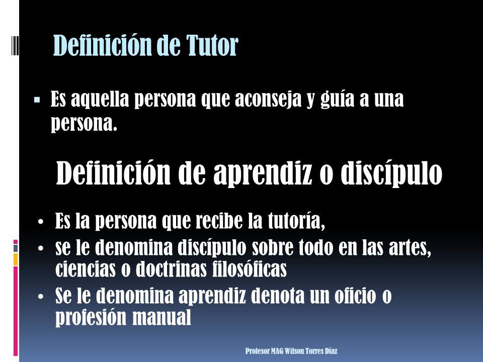 Definición de aprendiz o discípulo