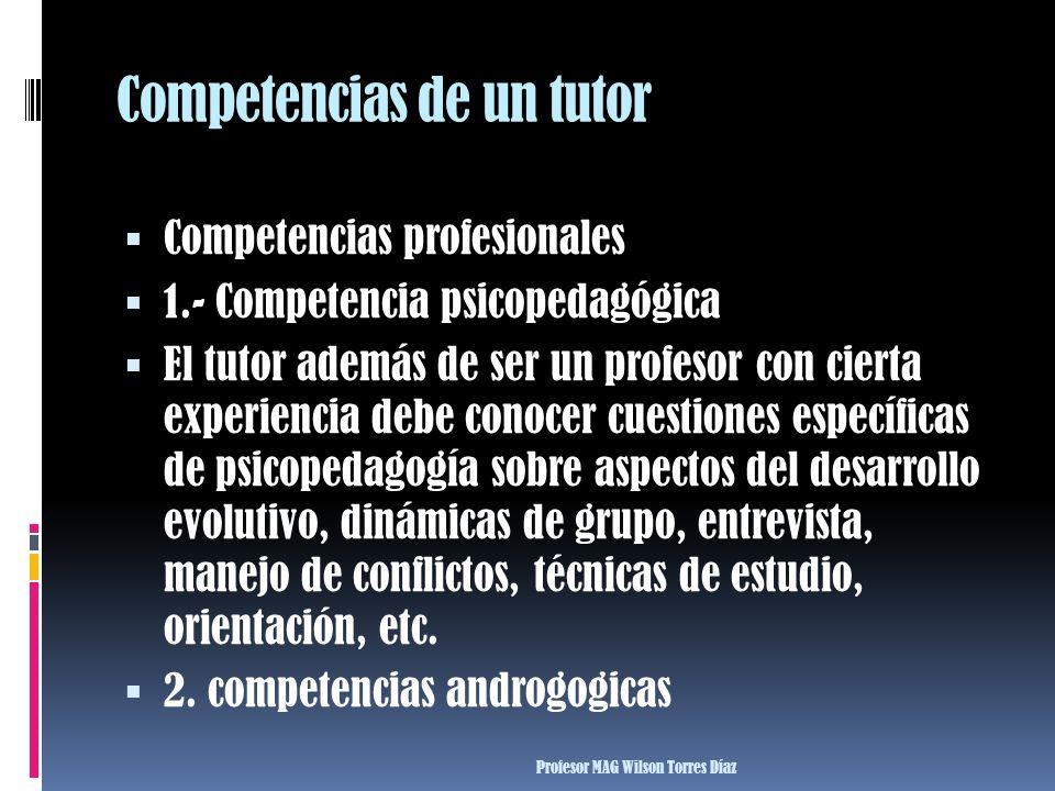 Competencias de un tutor