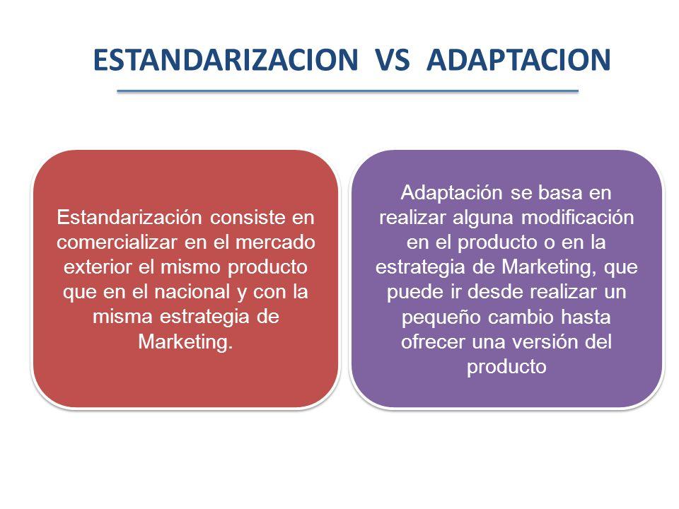 ESTANDARIZACION VS ADAPTACION