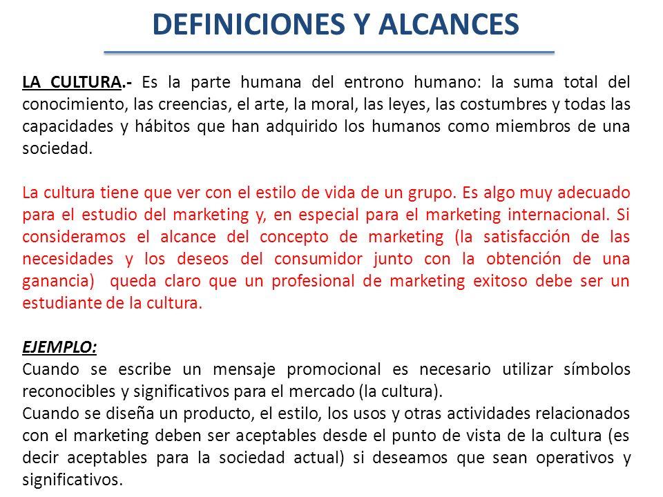 DEFINICIONES Y ALCANCES