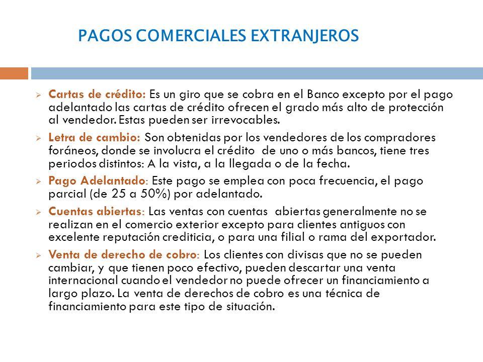PAGOS COMERCIALES EXTRANJEROS