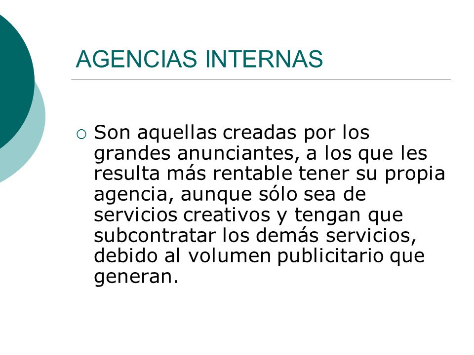 AGENCIAS INTERNAS