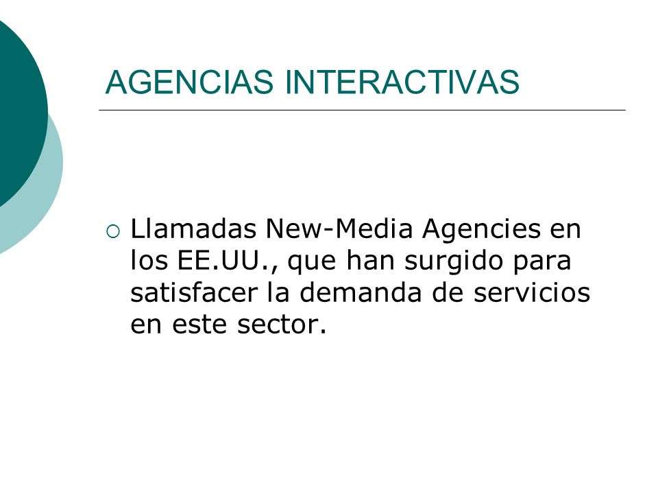 AGENCIAS INTERACTIVAS