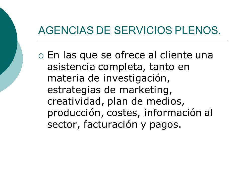 AGENCIAS DE SERVICIOS PLENOS.