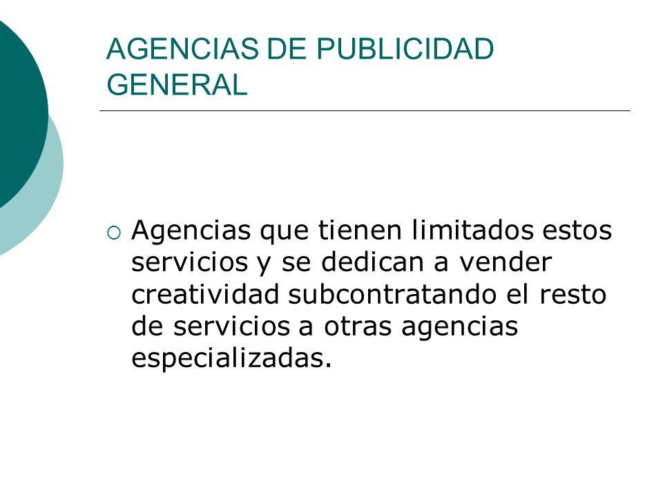 AGENCIAS DE PUBLICIDAD GENERAL