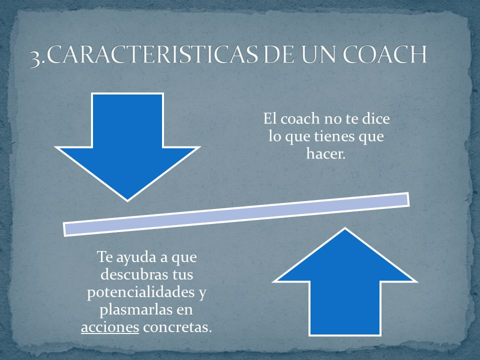 3.CARACTERISTICAS DE UN COACH