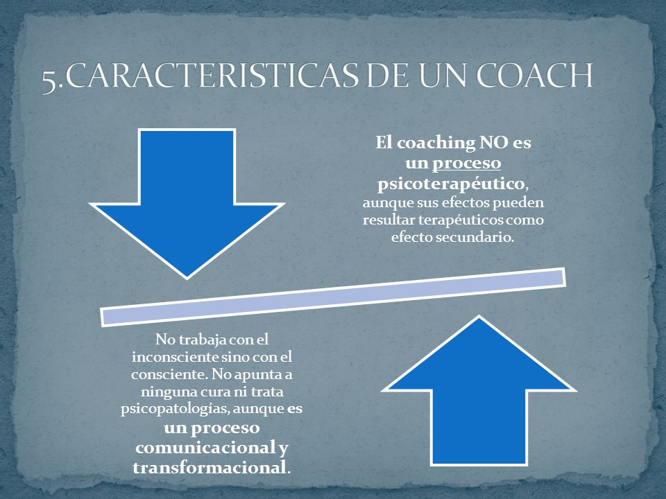 5.CARACTERISTICAS DE UN COACH