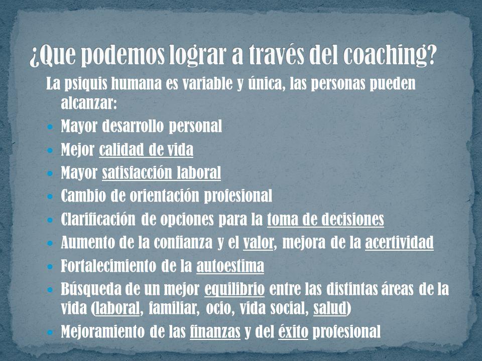 ¿Que podemos lograr a través del coaching