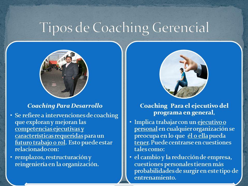 Tipos de Coaching Gerencial