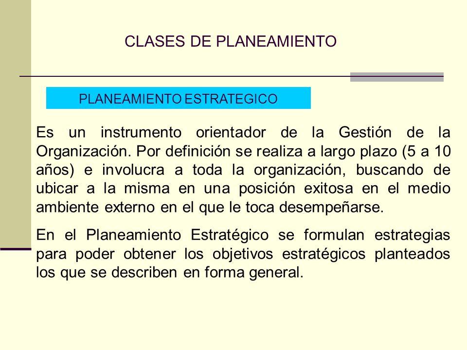 CLASES DE PLANEAMIENTO