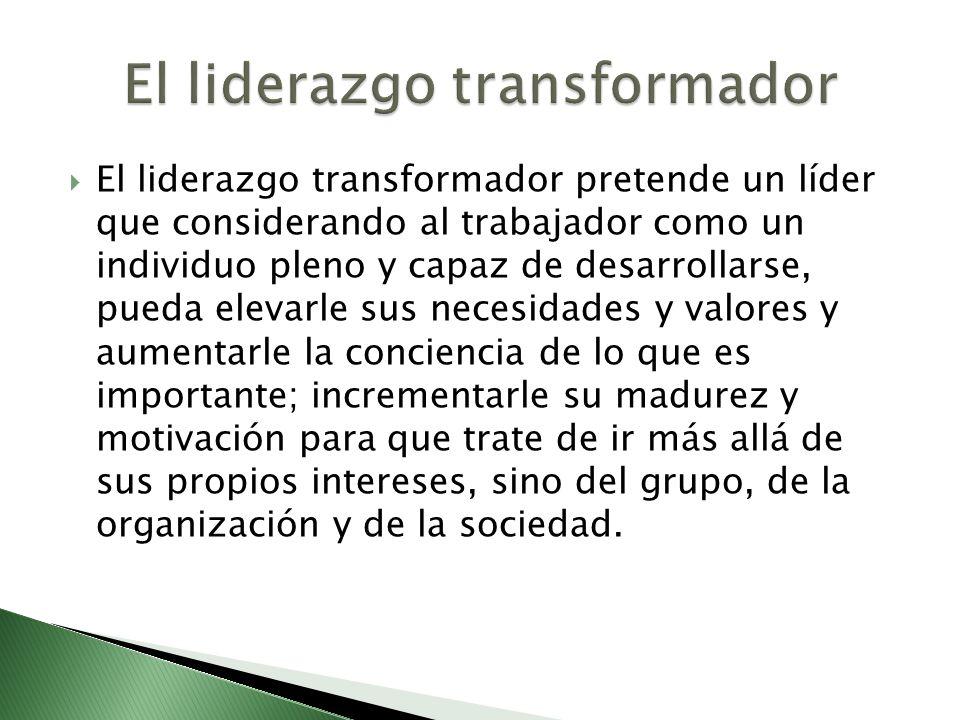 El liderazgo transformador