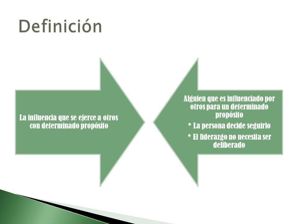 Definición La influencia que se ejerce a otros con determinado propósito. Alguien que es influenciado por otros para un determinado propósito.
