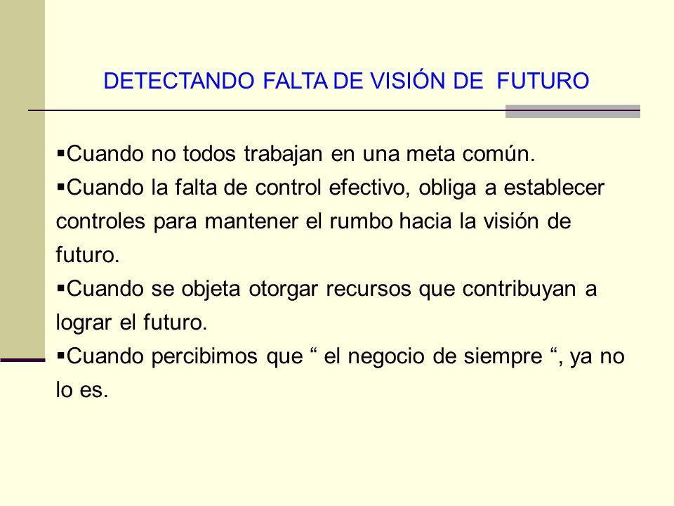 DETECTANDO FALTA DE VISIÓN DE FUTURO