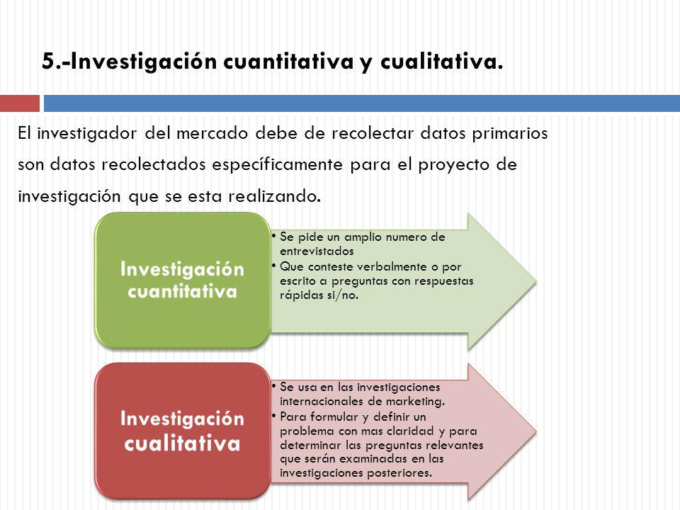 5.-Investigación cuantitativa y cualitativa.