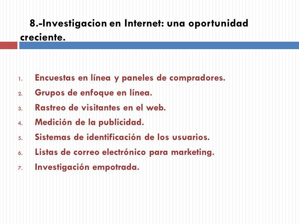 8.-Investigacion en Internet: una oportunidad creciente.
