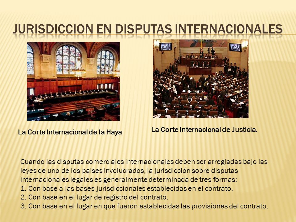JURISDICCION EN DISPUTAS INTERNACIONALES