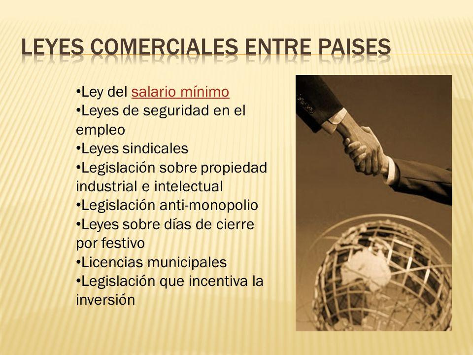 Leyes comerciales entre paises