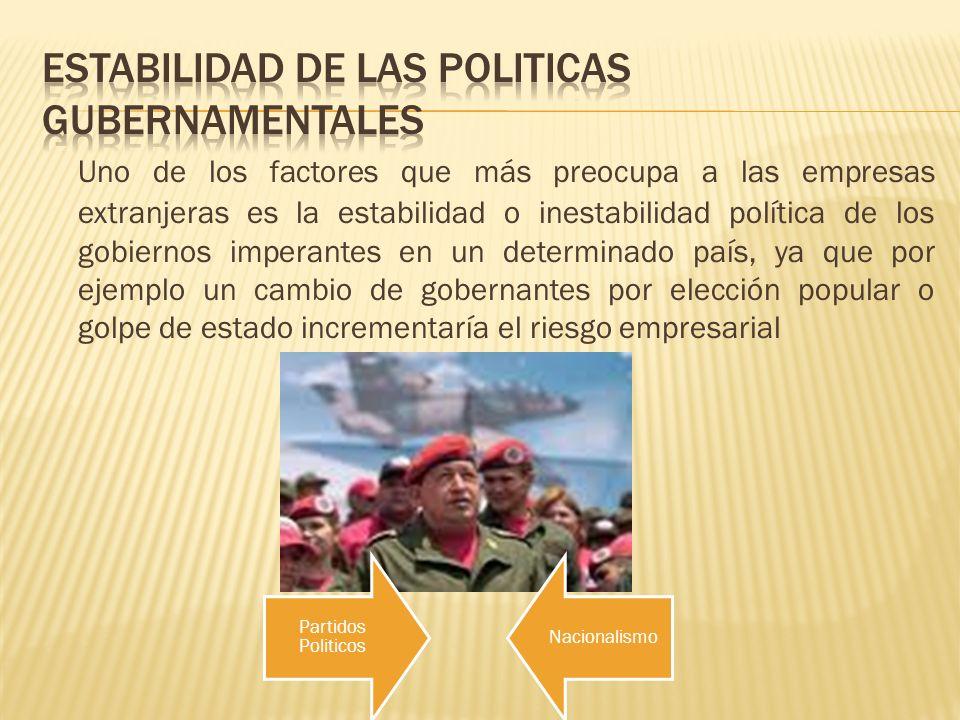 ESTABILIDAD DE LAS POLITICAS GUBERNAMENTALES