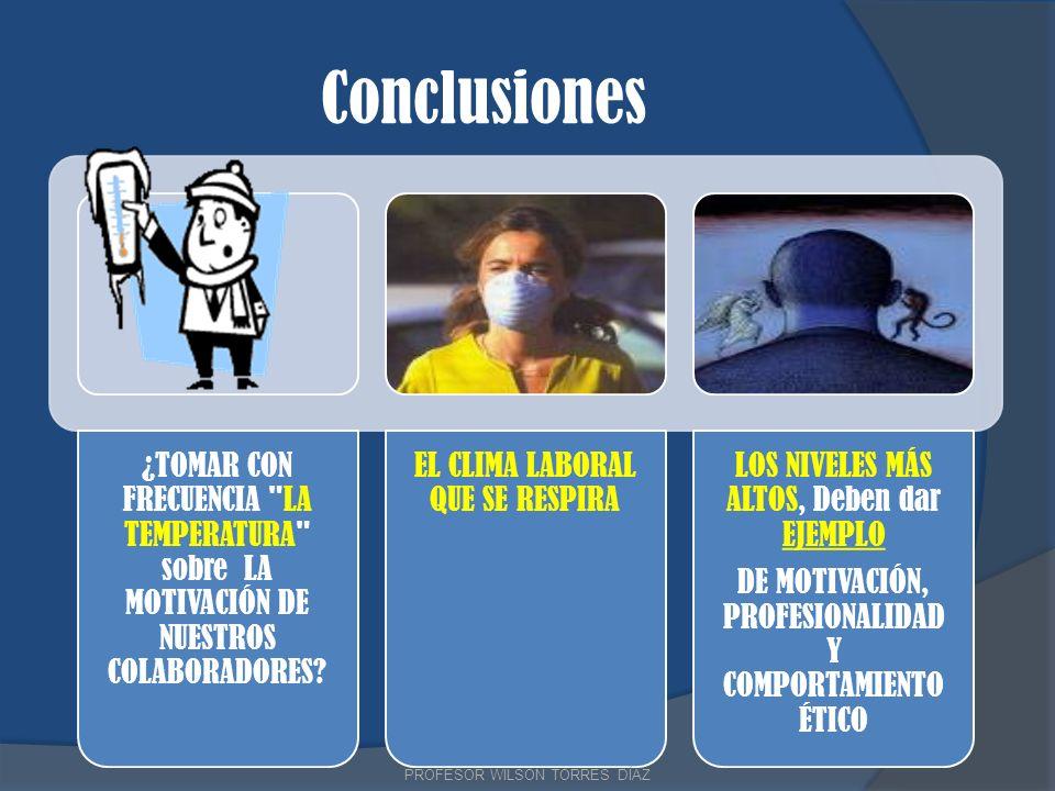 Conclusiones PROFESOR WILSON TORRES DÍAZ