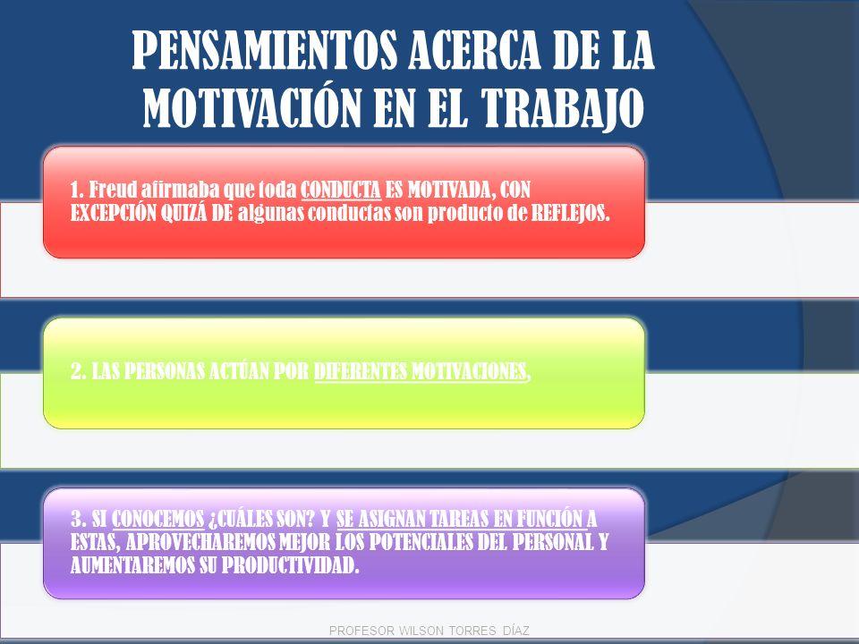 PENSAMIENTOS ACERCA DE LA MOTIVACIÓN EN EL TRABAJO