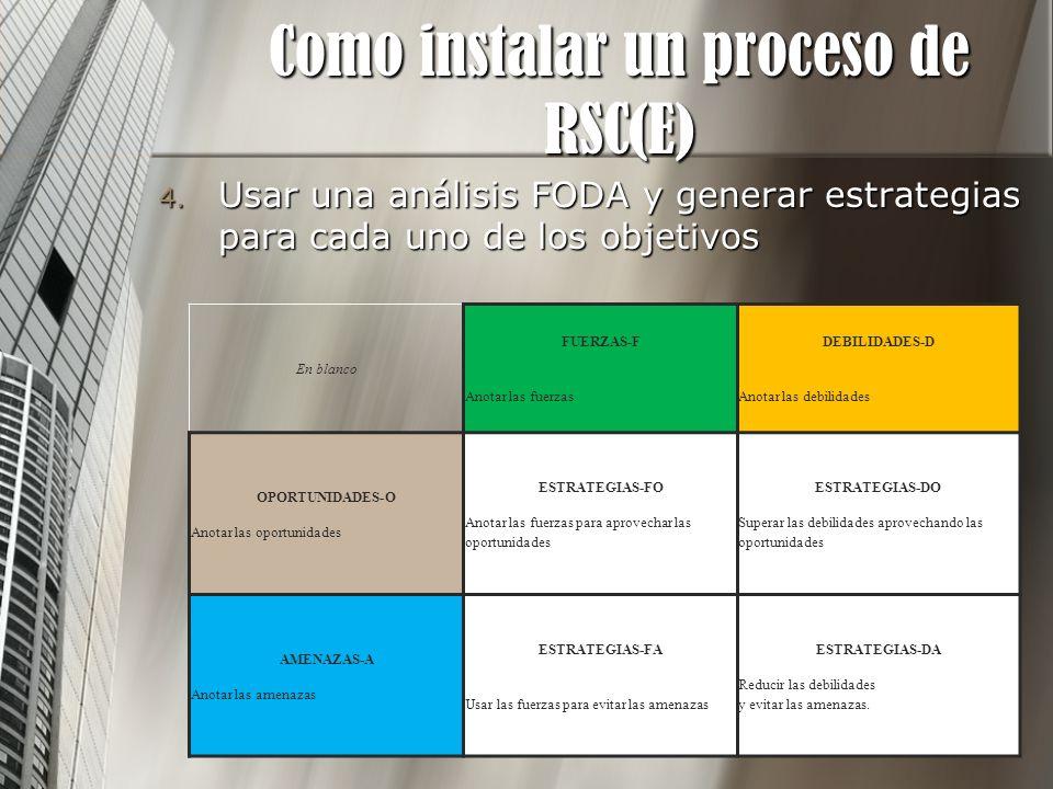 Como instalar un proceso de RSC(E)