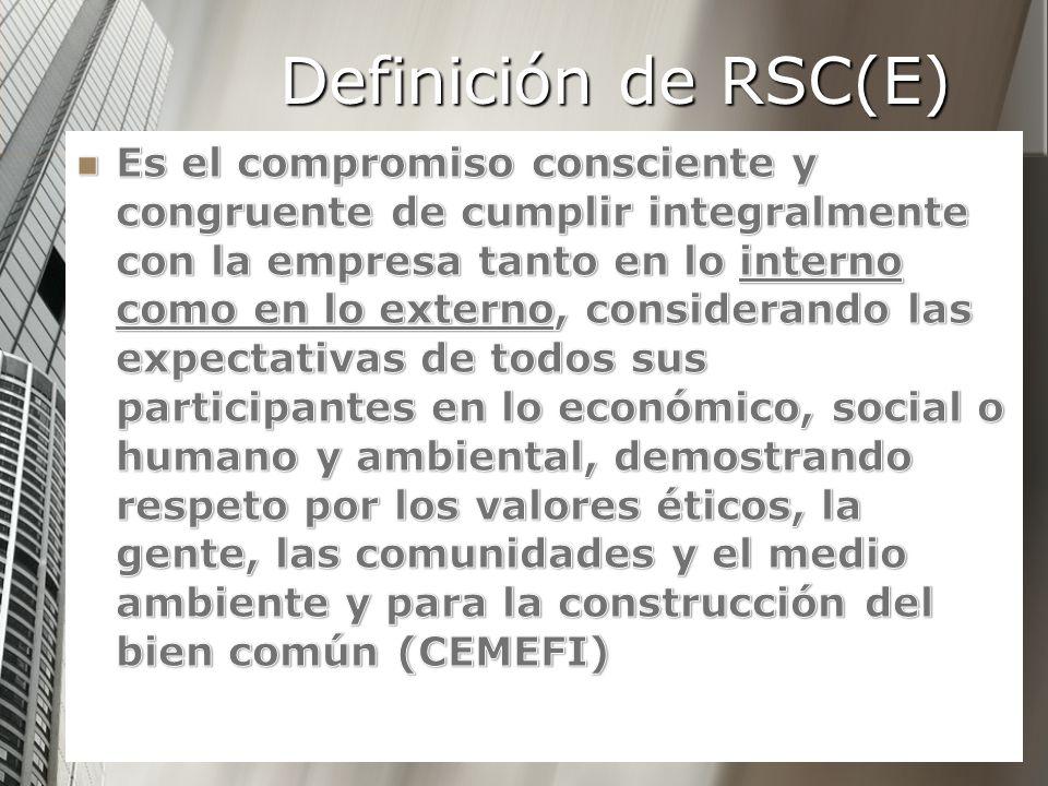 Definición de RSC(E)