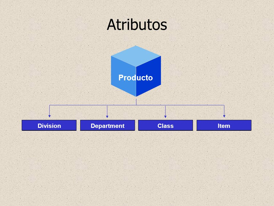 Atributos Producto Geography Division Department Class Item Attributes