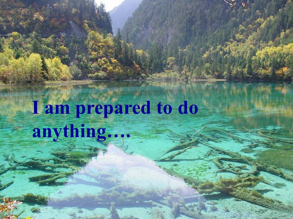 I am prepared to do anything….