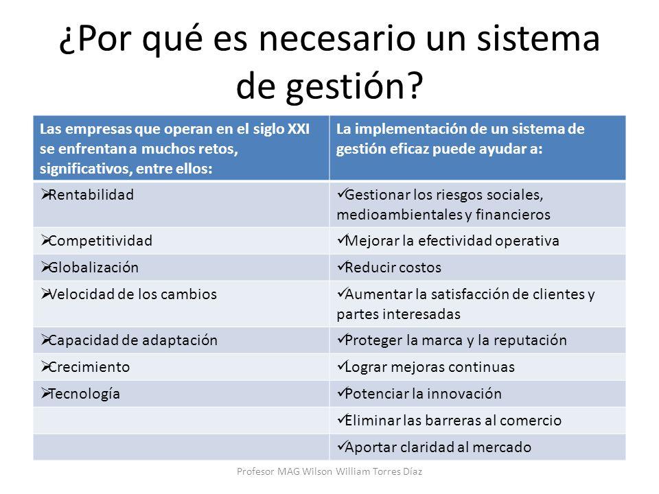 ¿Por qué es necesario un sistema de gestión