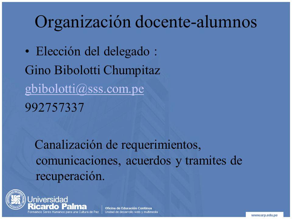 Organización docente-alumnos