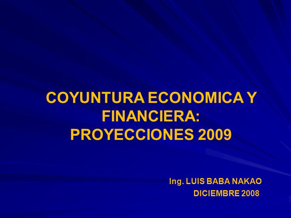 COYUNTURA ECONOMICA Y FINANCIERA: PROYECCIONES 2009