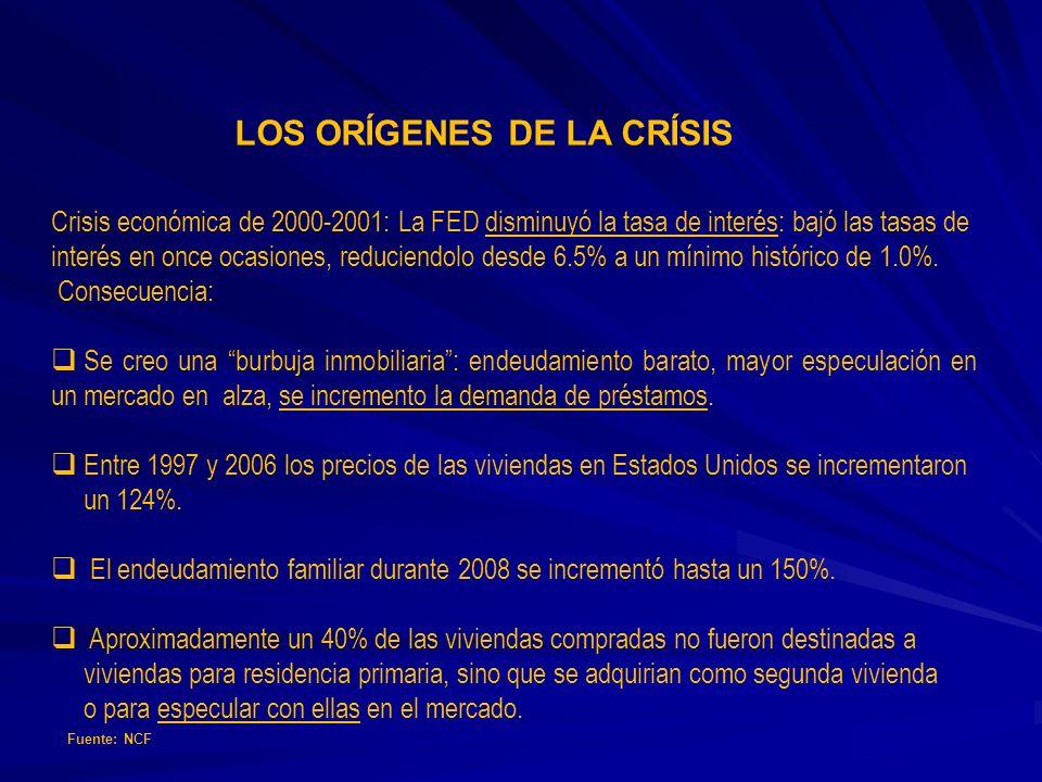 LOS ORÍGENES DE LA CRÍSIS