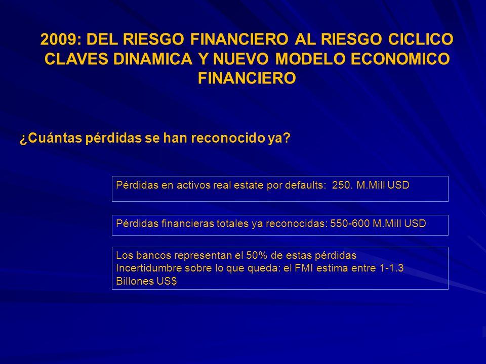2009: DEL RIESGO FINANCIERO AL RIESGO CICLICO CLAVES DINAMICA Y NUEVO MODELO ECONOMICO FINANCIERO