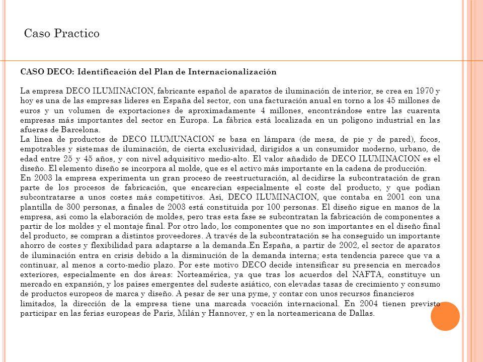 Caso Practico CASO DECO: Identificación del Plan de Internacionalización.