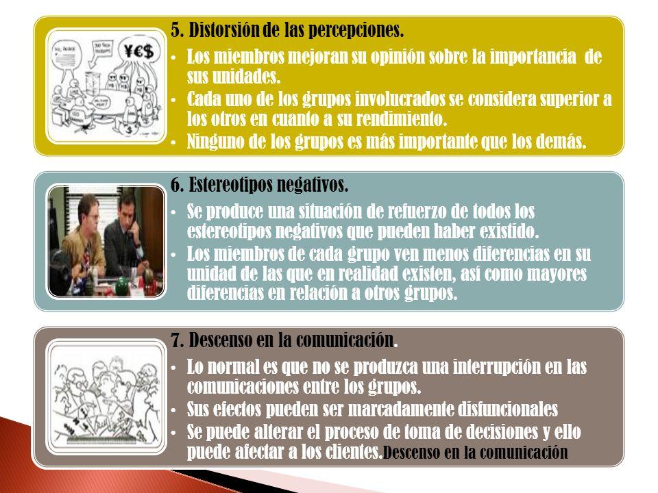 5. Distorsión de las percepciones.
