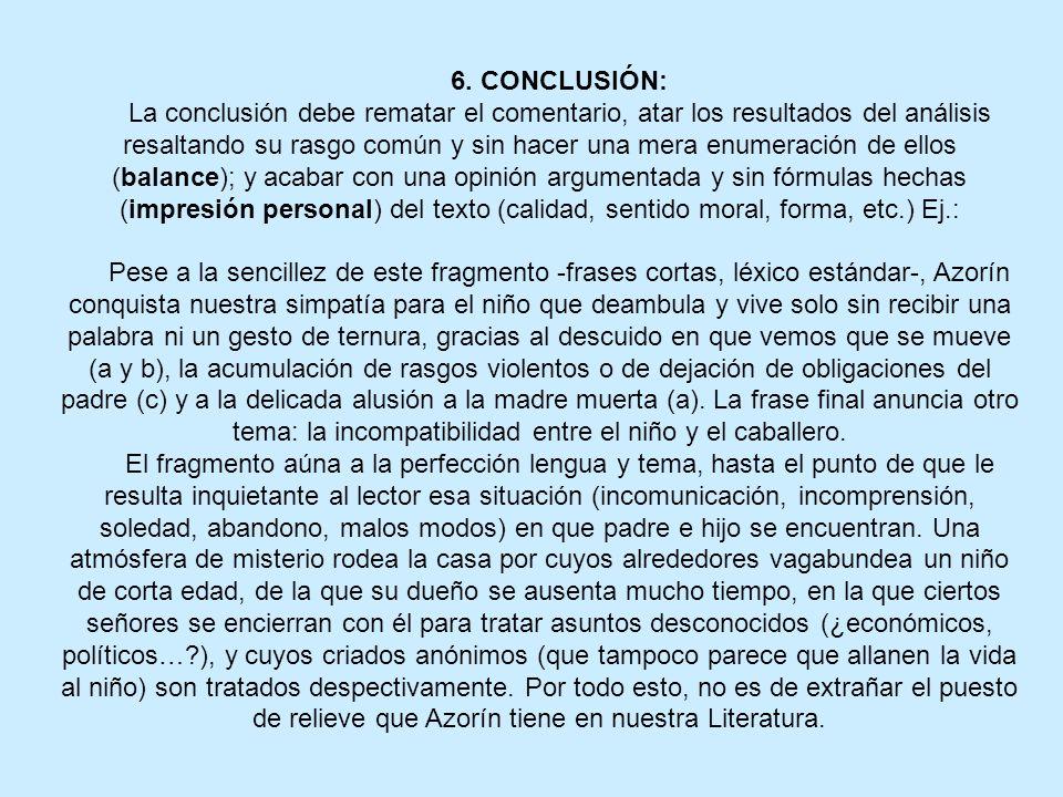 6. CONCLUSIÓN:
