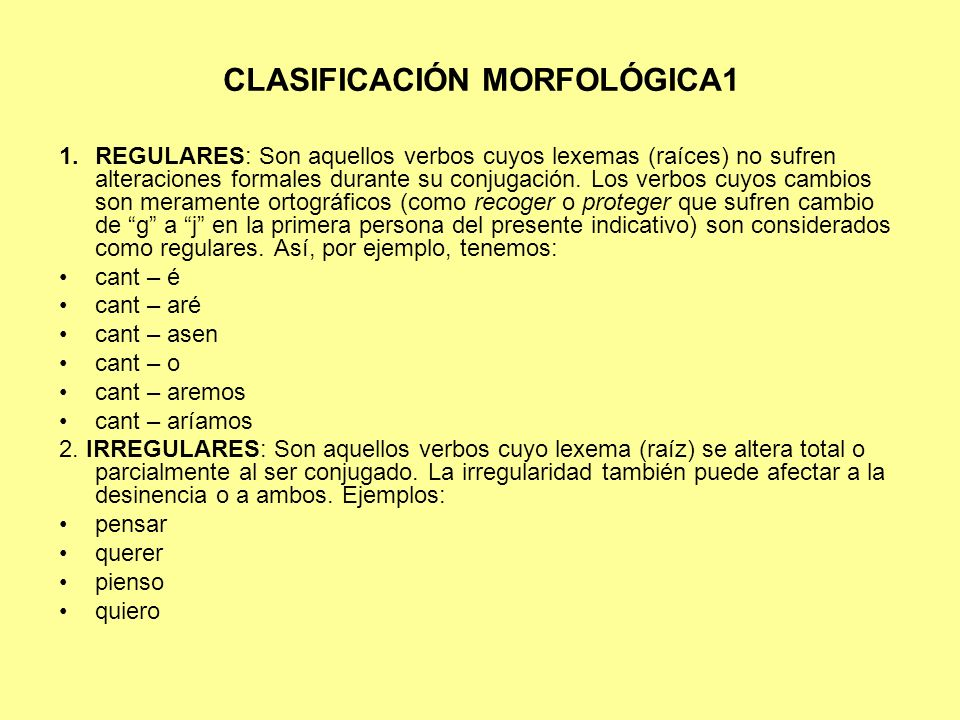 CLASIFICACIÓN MORFOLÓGICA1