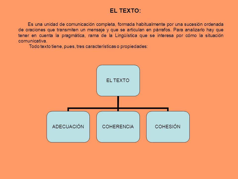 EL TEXTO: