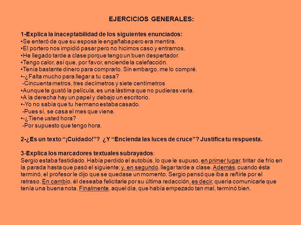 EJERCICIOS GENERALES: