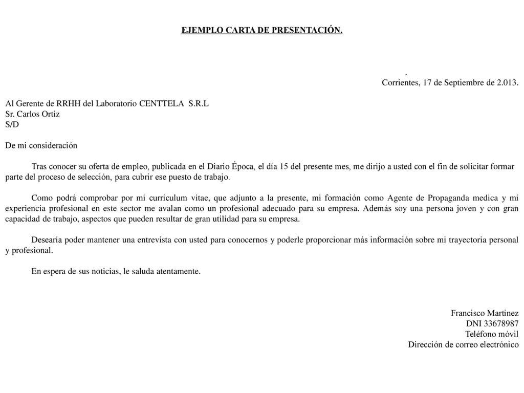Contemporáneo Reanuda La Carta De Presentación Molde - Colección De ...