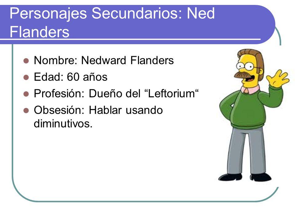 Personajes Secundarios: Ned Flanders