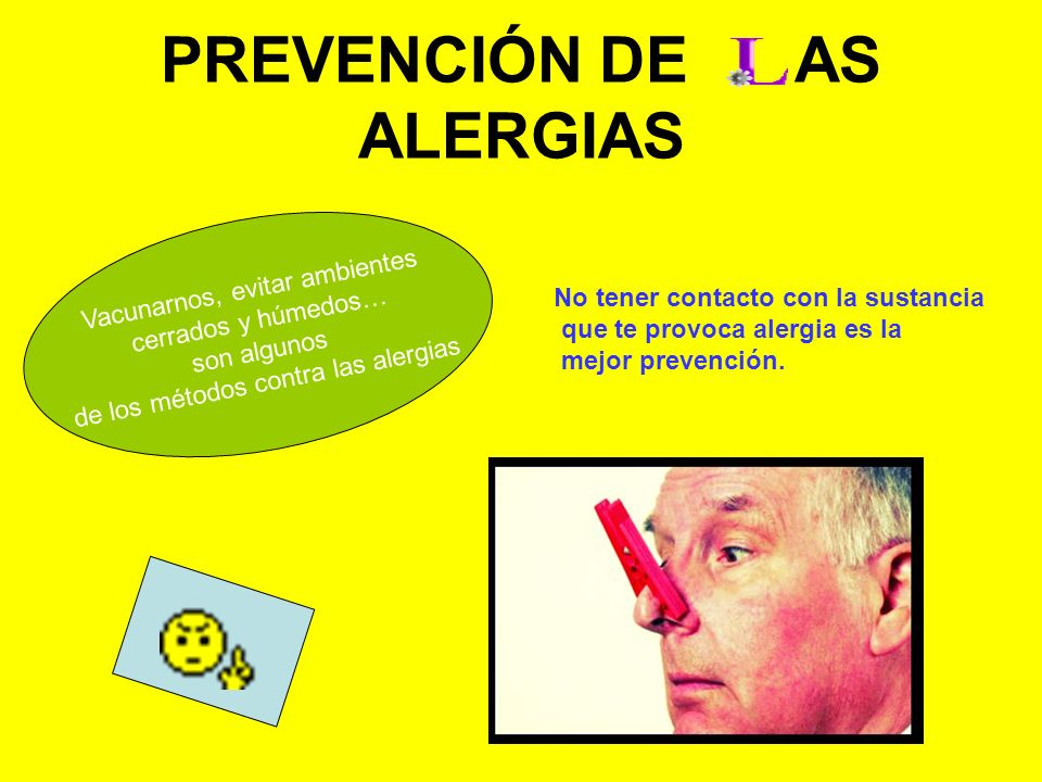 PREVENCIÓN DE AS ALERGIAS