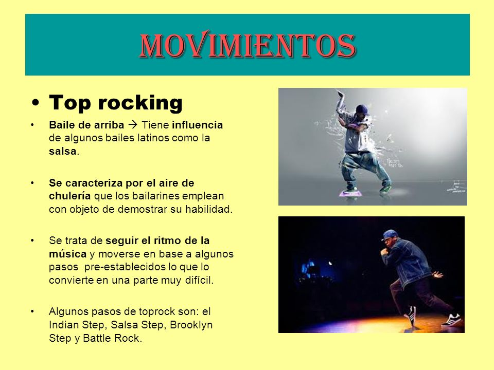 Movimientos Top rocking