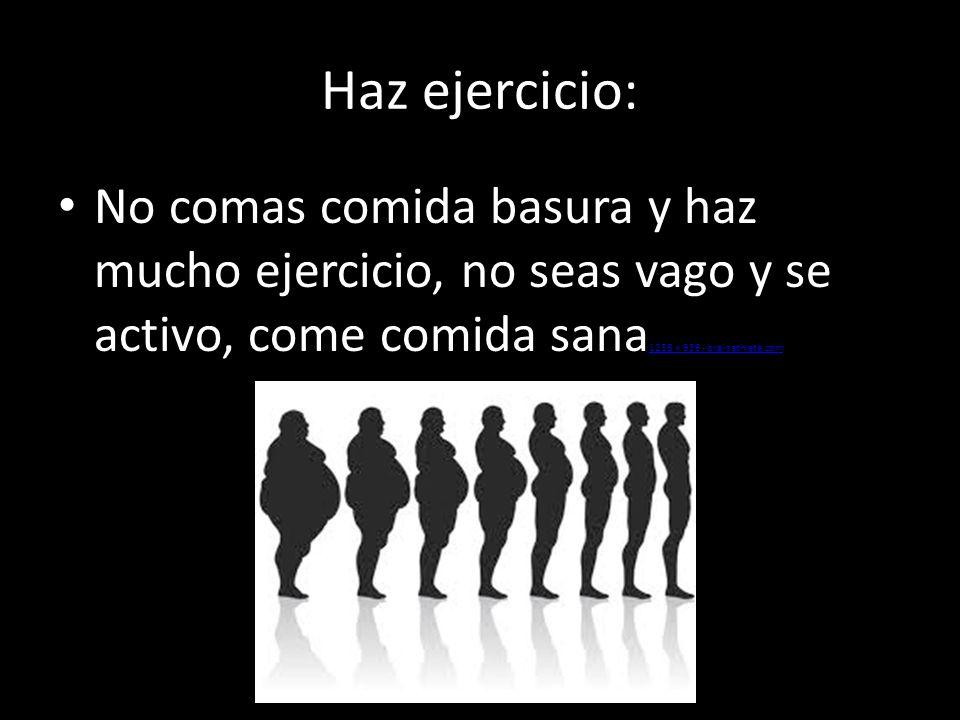 Haz ejercicio: No comas comida basura y haz mucho ejercicio, no seas vago y se activo, come comida sana1256 × 936 - brainathlete.com.