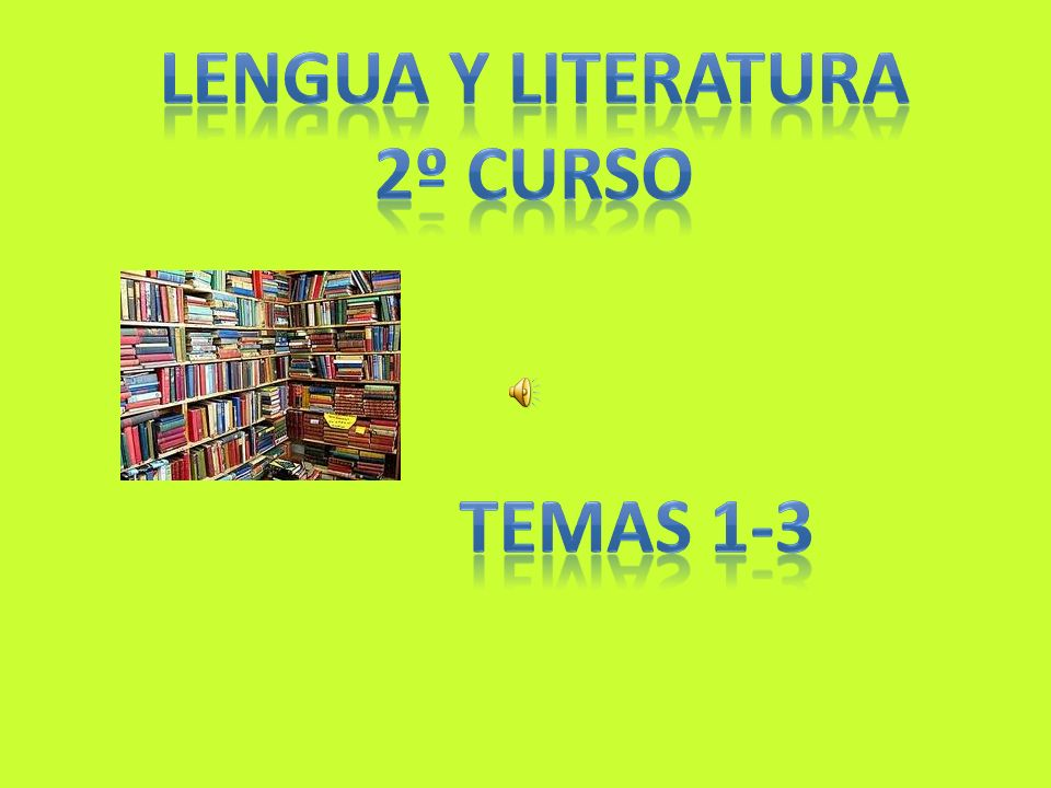 lengua y literatura 2º curso