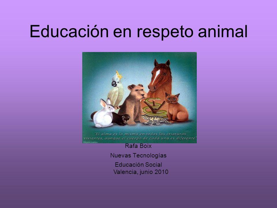 Educación en respeto animal