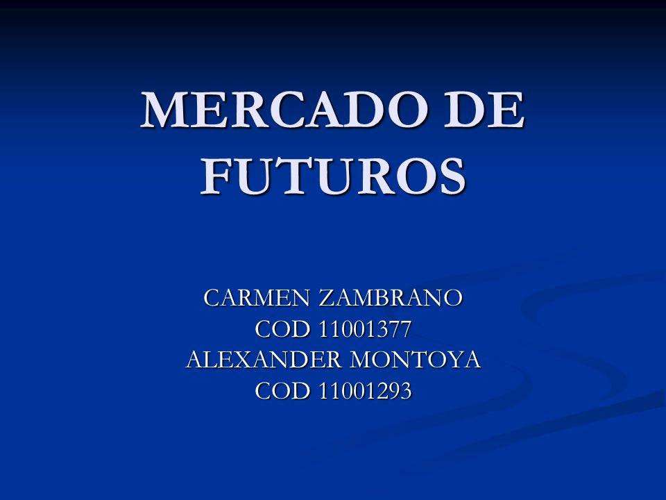 CARMEN ZAMBRANO COD 11001377 ALEXANDER MONTOYA COD 11001293