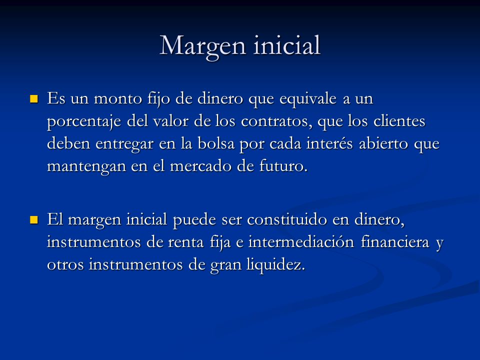 Margen inicial