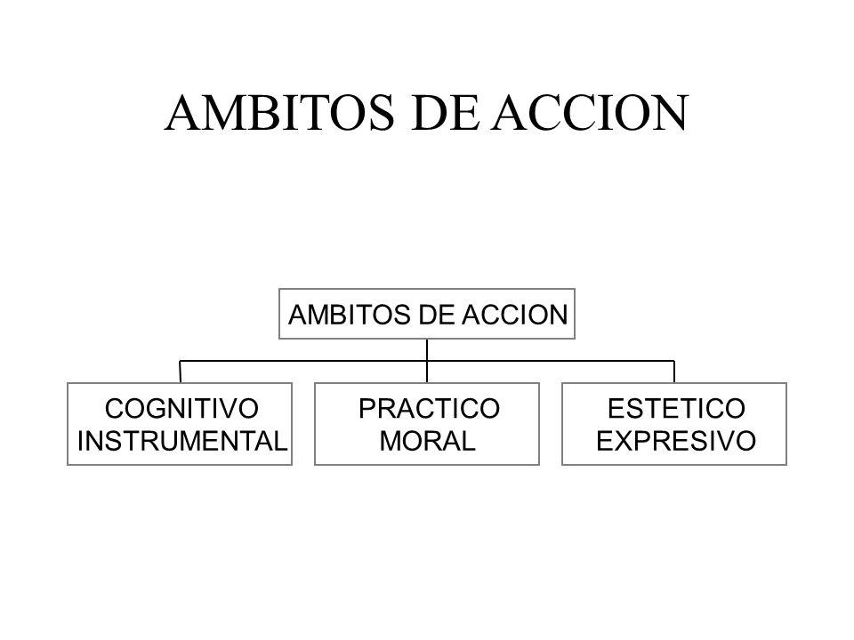AMBITOS DE ACCION COGNITIVO INSTRUMENTAL PRACTICO MORAL ESTETICO