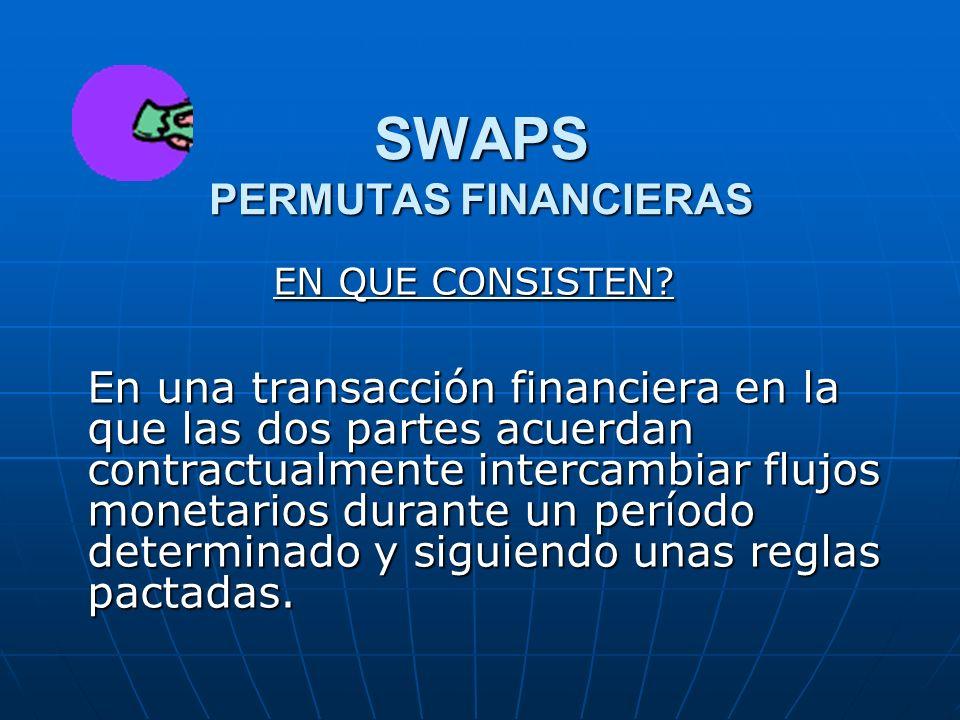 SWAPS PERMUTAS FINANCIERAS